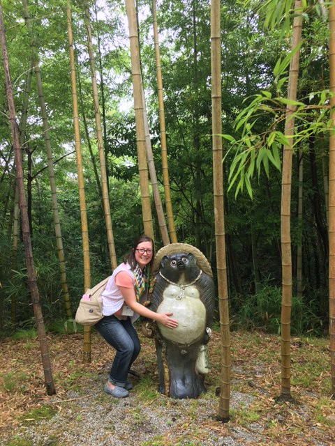 Giving a Giant Tanuki Belly Rubs.JPG