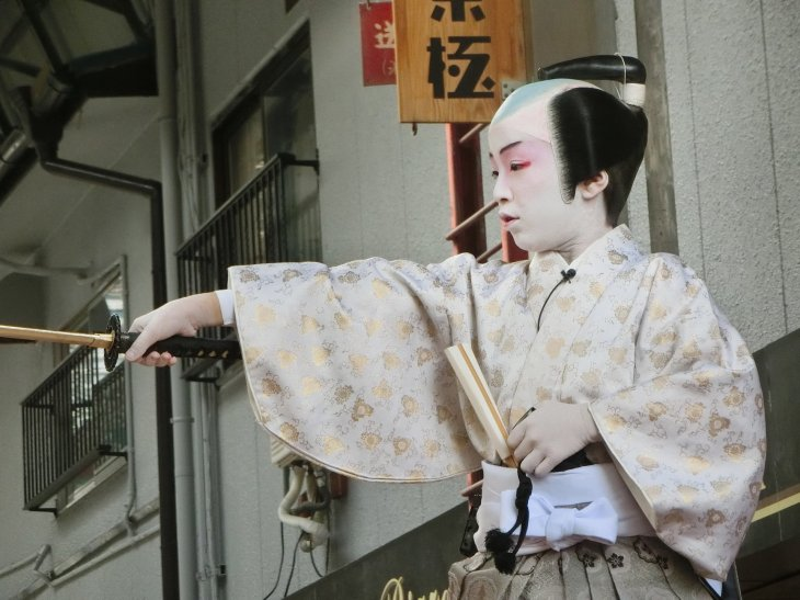 Nagahama Hikiyama Festival - Childrens' Kabuki 2.jpg